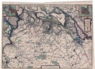 Kaart van het Hertogdom Brabant, 1625